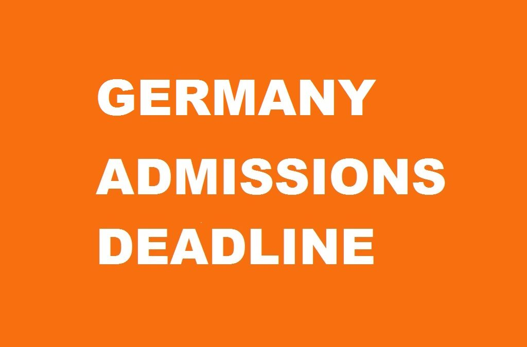 Germany Admissions Deadline