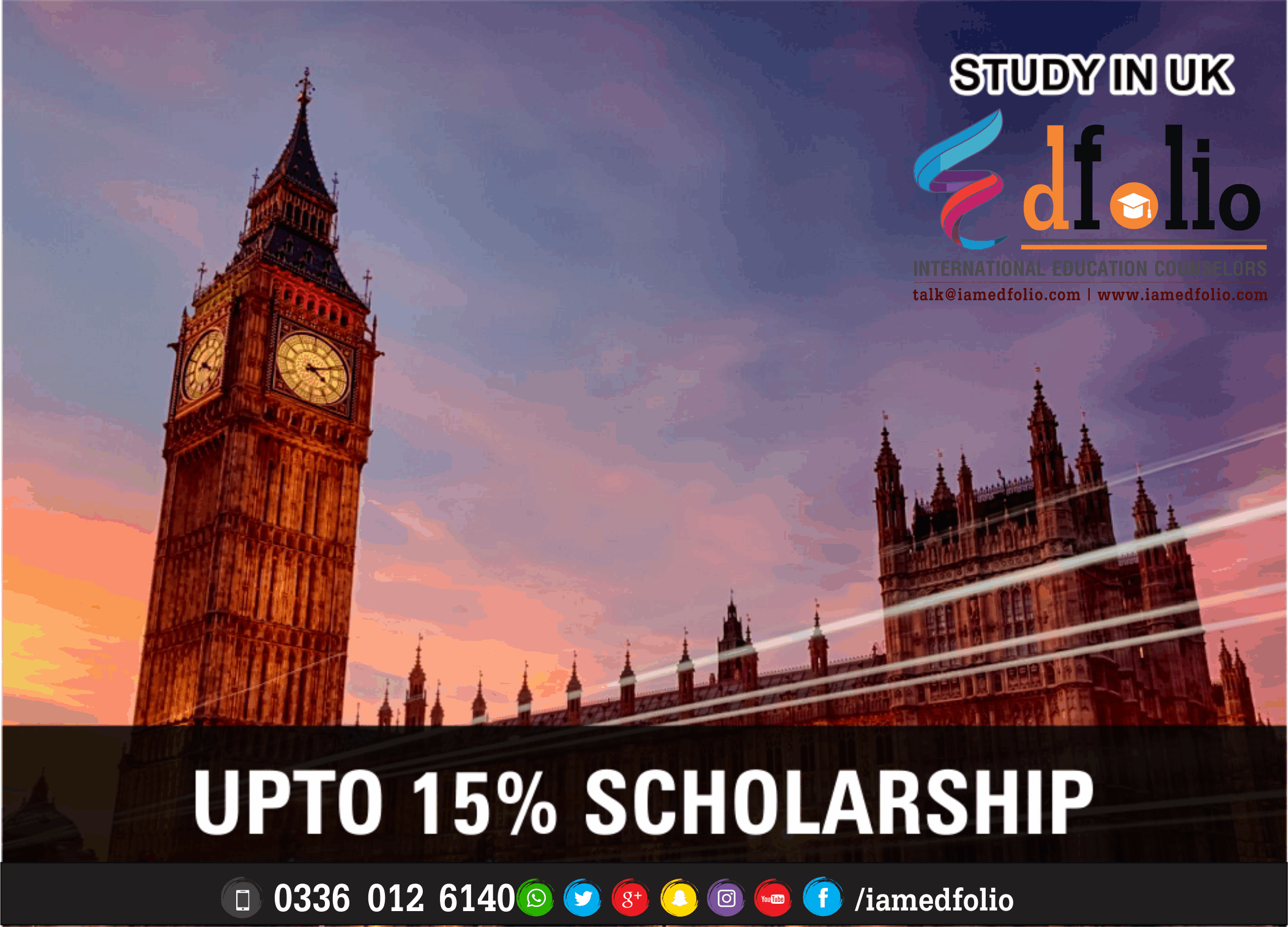 SCHOLARSHIPS IN UK - EdFolio International Education Consultant and Counselors