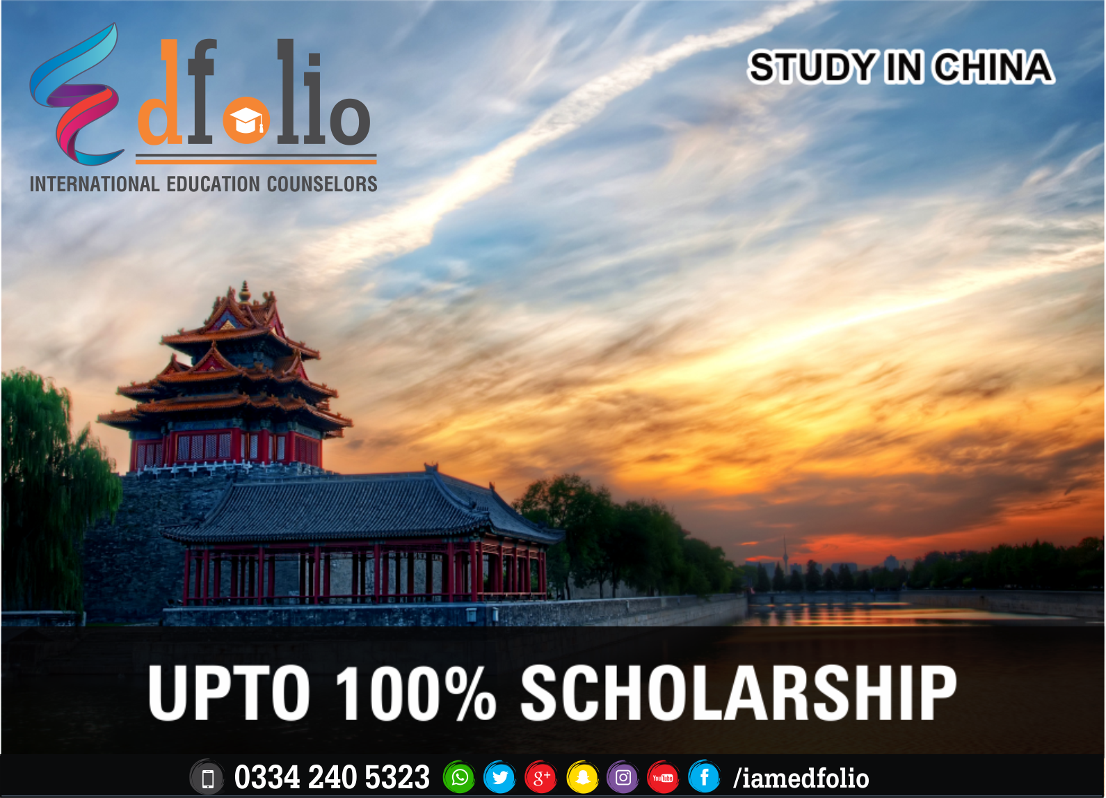 SCHOLARSHIPS IN CHINA - EdFolio International Education Consultant and Counselors