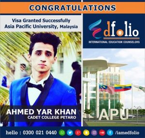 Admission in Asia Pacific University, Malaysia by EdFolio