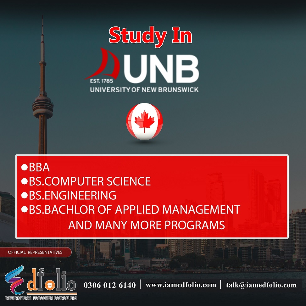 Get admission and study in University Of New Brunswick, Canada